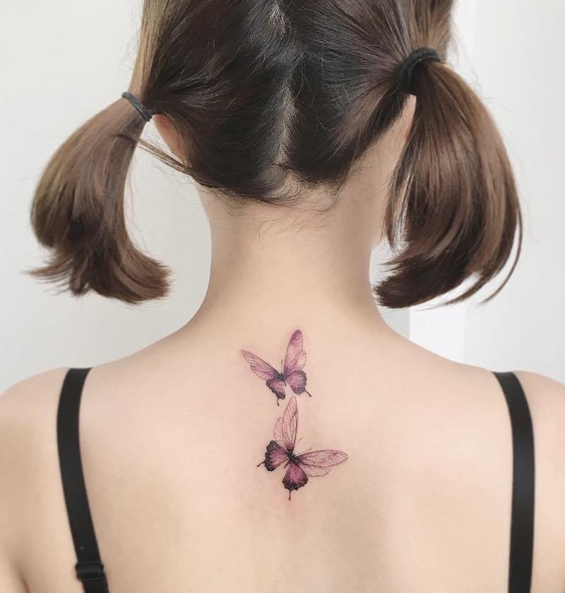 Butterfly Tattoos by Tattooist Flower