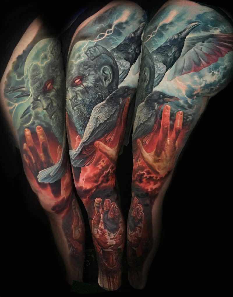 Color Tattoo Sleeve by Boris Tattoo