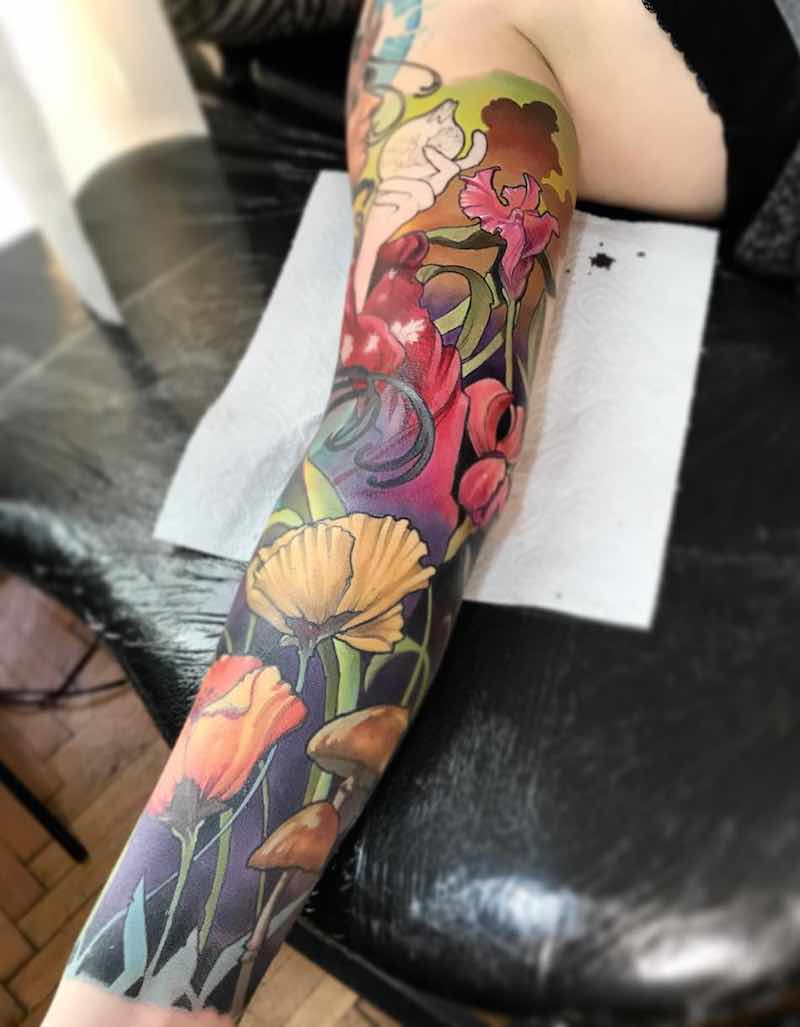Color Tattoo Sleeve by Szabolcs Oravecz