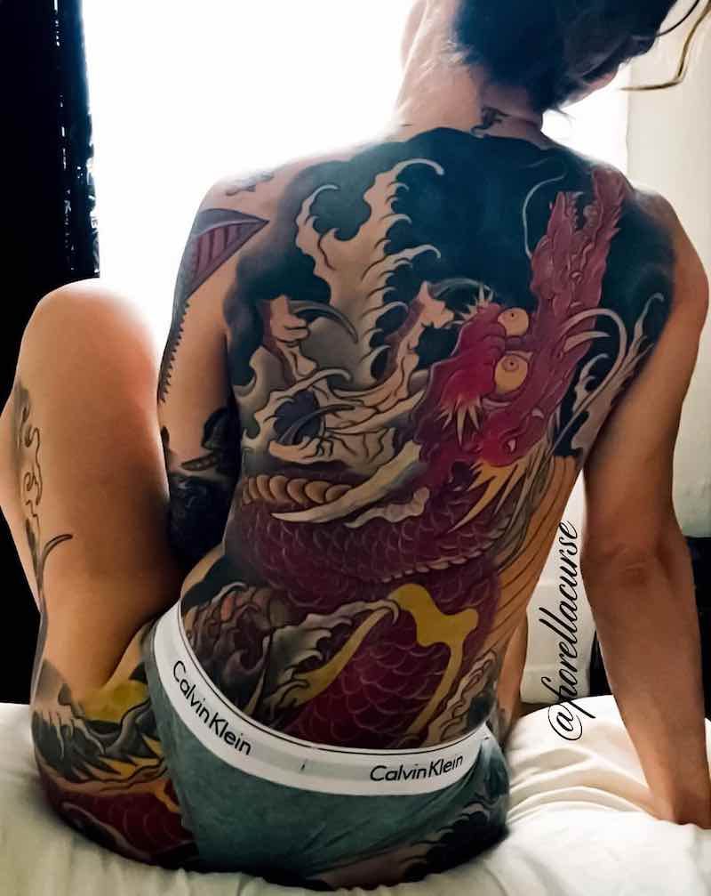 Dragon Back Tattoo by Andre Malcolm
