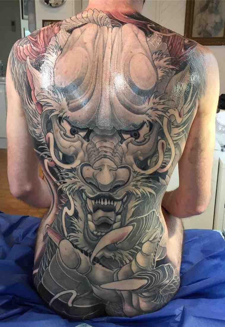 Dragon Back Tattoo by Henrik Grysbjerg