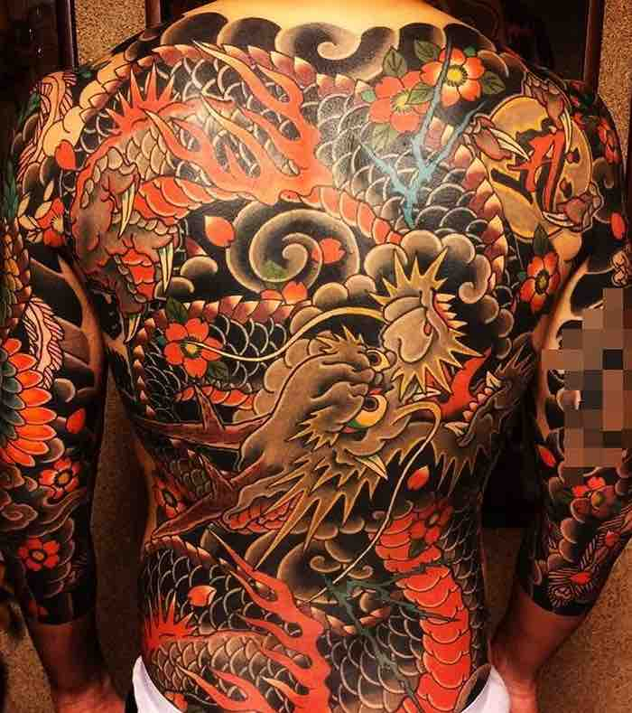 Dragon Back Tattoo by Horimomo
