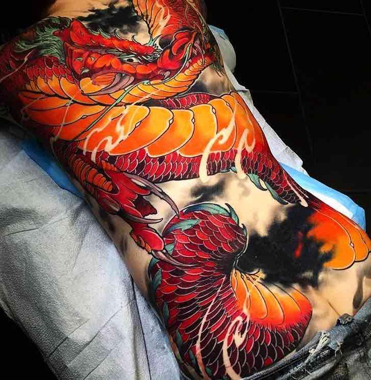 Dragon Back Tattoo by Jay Marceau