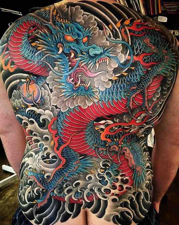 Dragon Back Tattoo by Matt Beckerich
