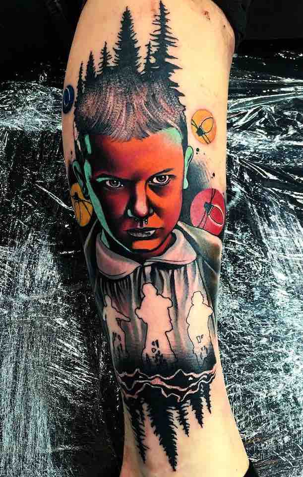 Eleven Stranger Things Tattoo by Little Andy
