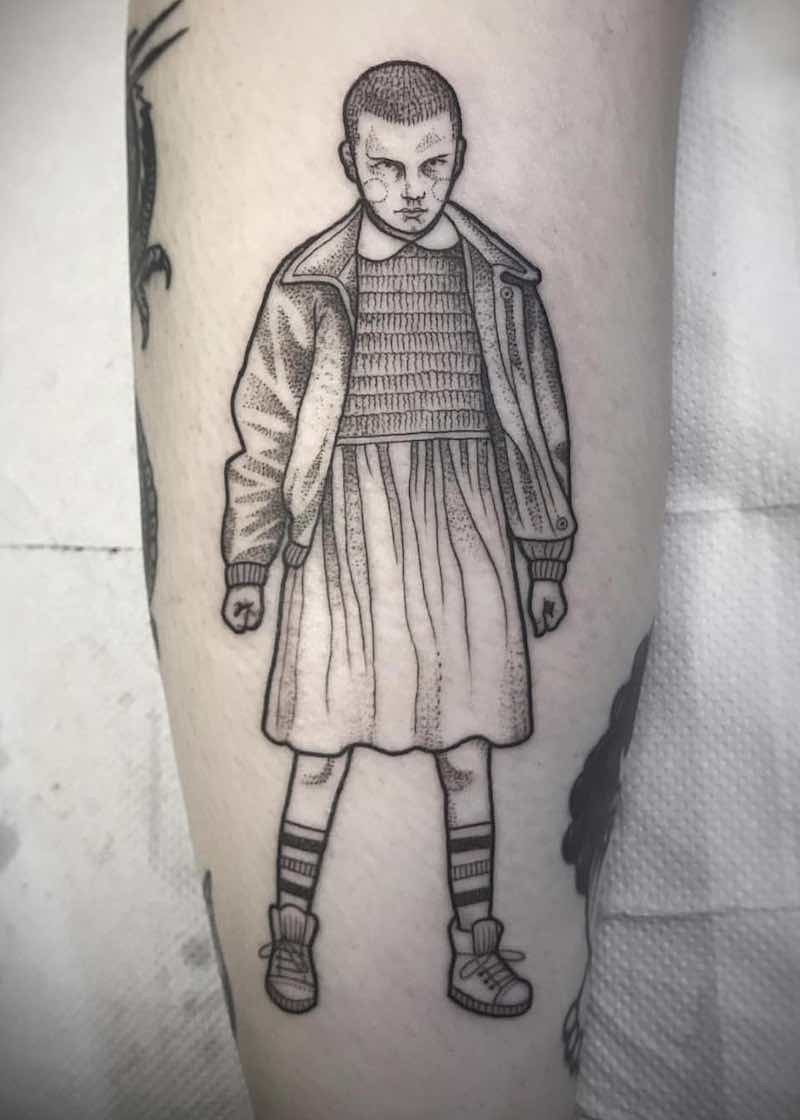 Eleven Stranger Things Tattoo by Suflanda