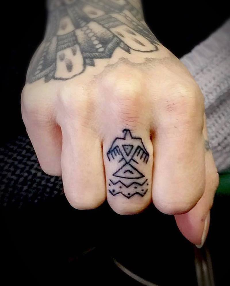Finger Tattoo by Tattrx