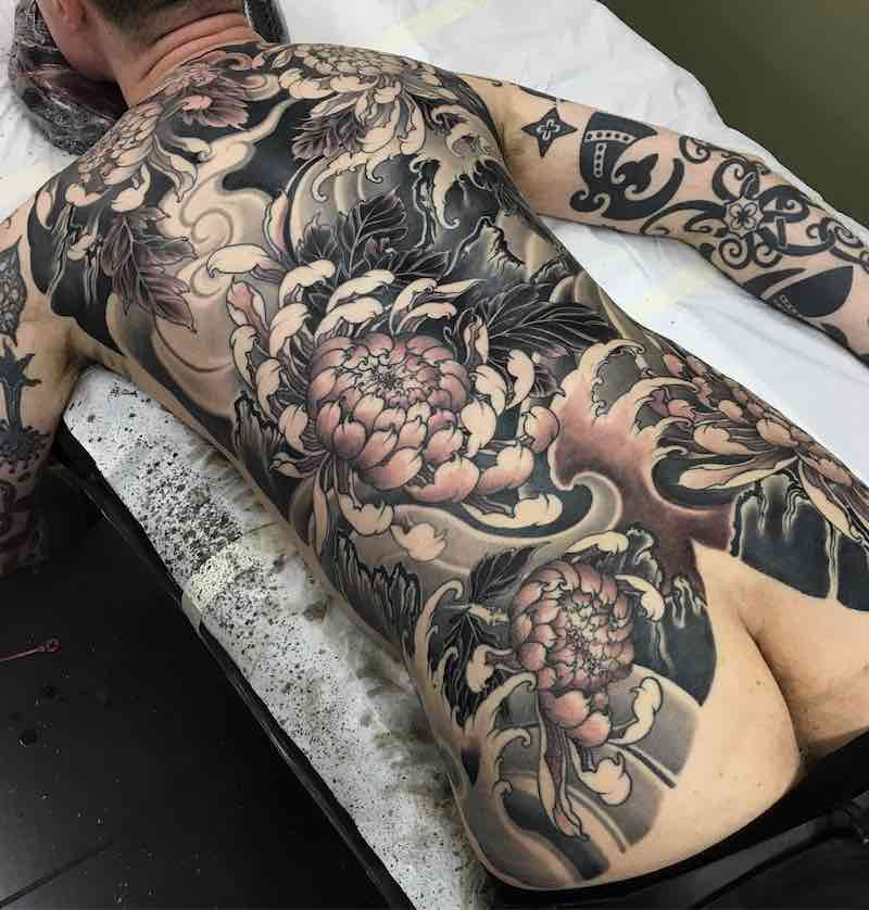 Full Back Japanese Tattoo by Dalmiro