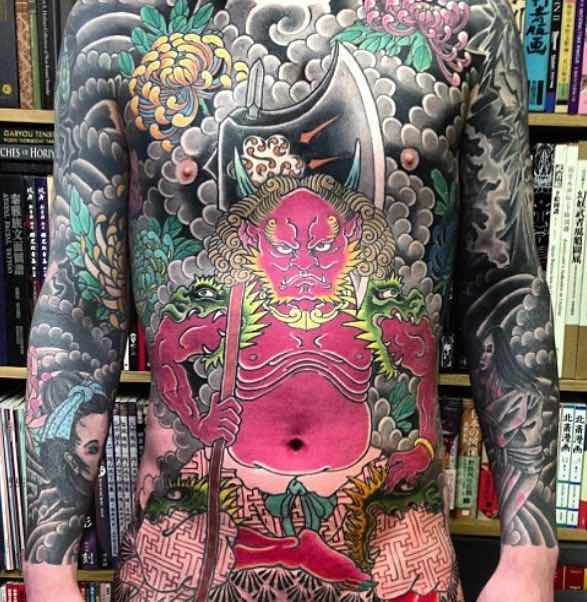 Full Body Suit Japanese Tattoo - Holy Fox