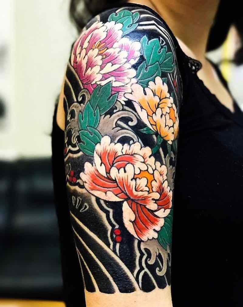 Half Sleeve Tattoo by Horimitsu