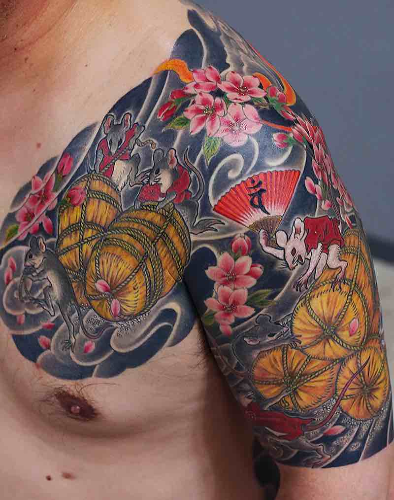 Half Sleeve Tattoo by Kenji Shigehara