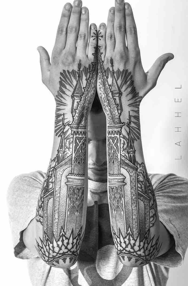Half Sleeve Tattoo by Lahhel