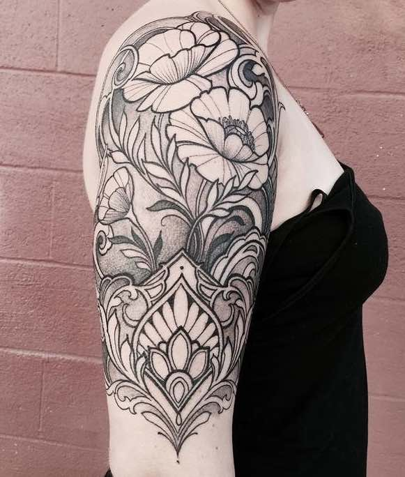 Half Sleeve Tattoo by Laura Jade