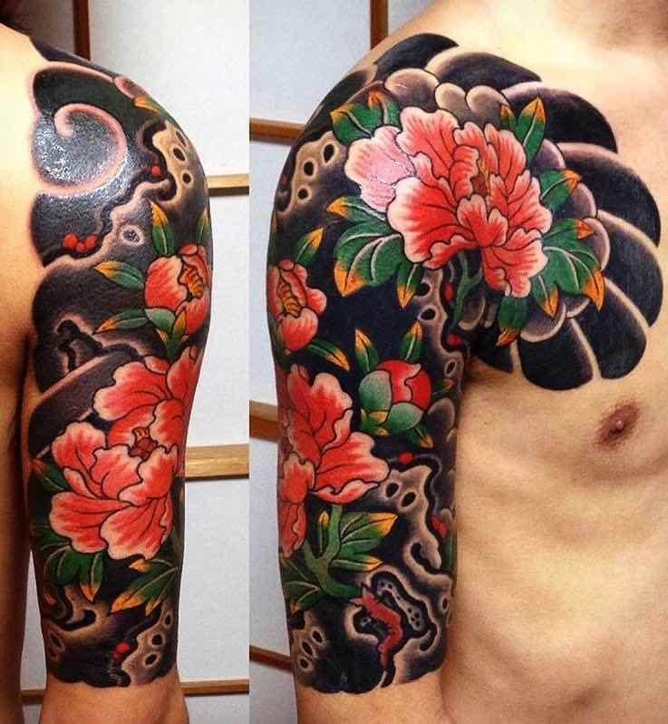 Half Sleeve Tattoo by Rico