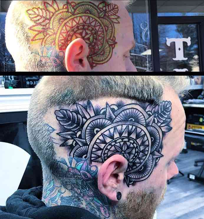 Head Tattoo by Joshua Lagana