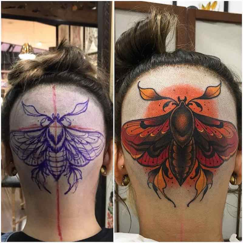 Head Tattoo by Lucas Ferreira
