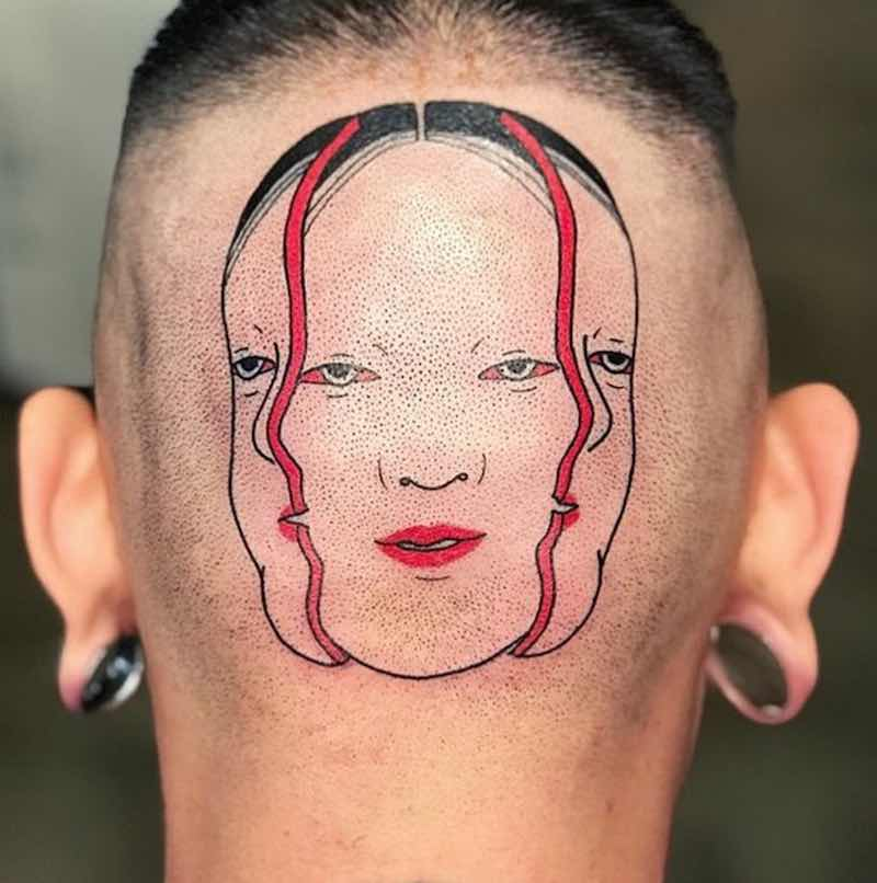 Japanese Head Tattoo by Suzani