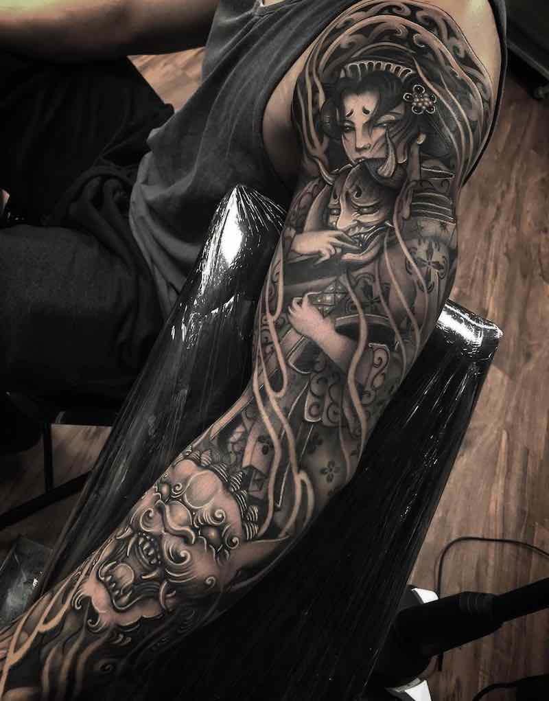 Japanese Tattoo Sleeve by Charles Ong
