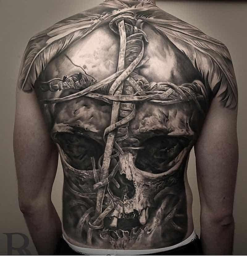 Mens Back Tattoos by Bali Revai