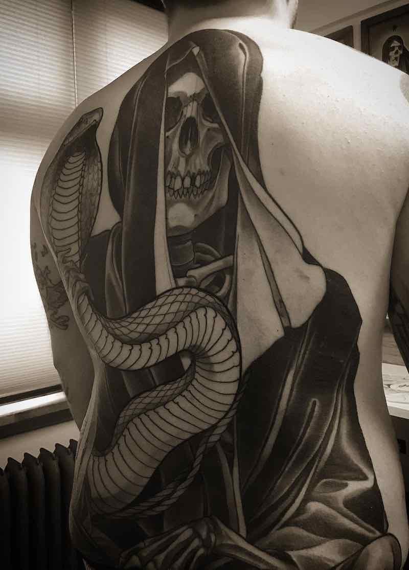 Mens Back Tattoos by Eckel