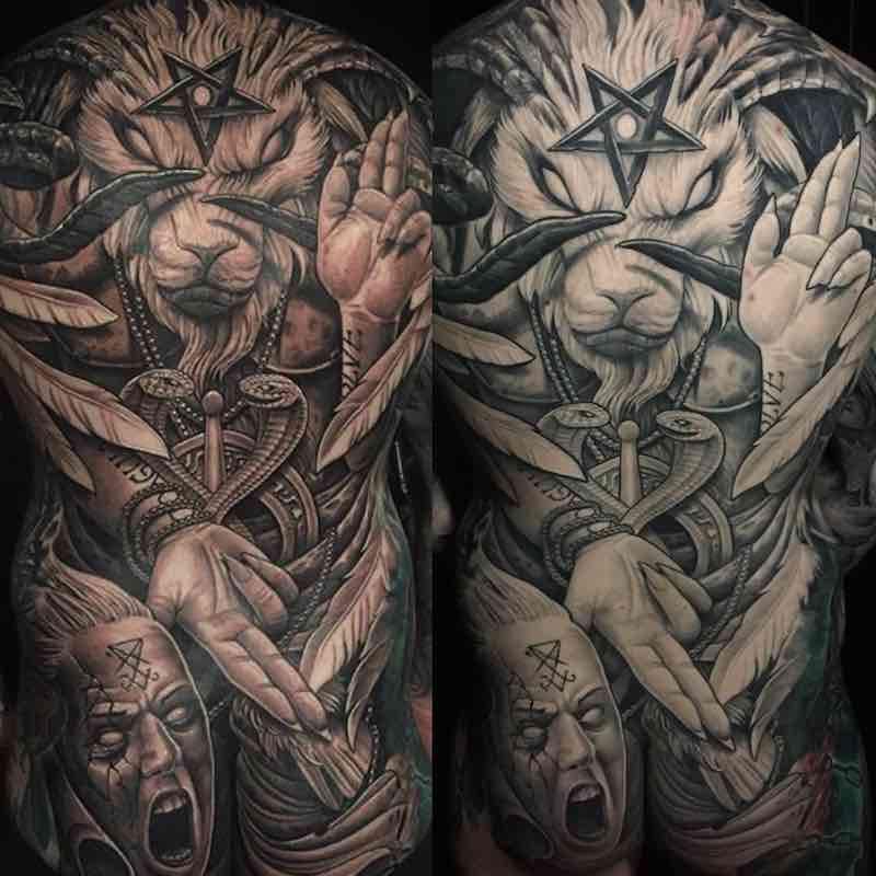 Mens Back Tattoos by Julian Siebert