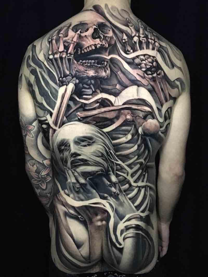 Mens Back Tattoos by Matt Jordan