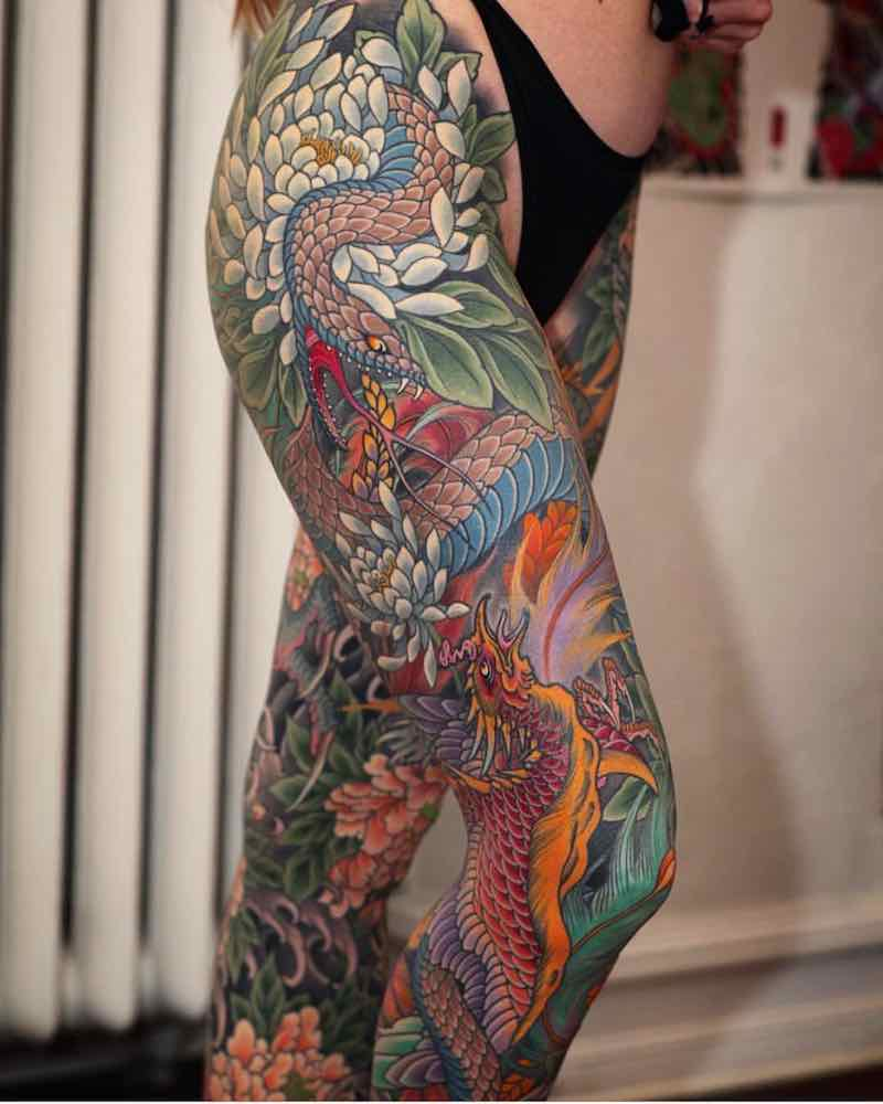 Phoenix Tattoo by Johan svahn