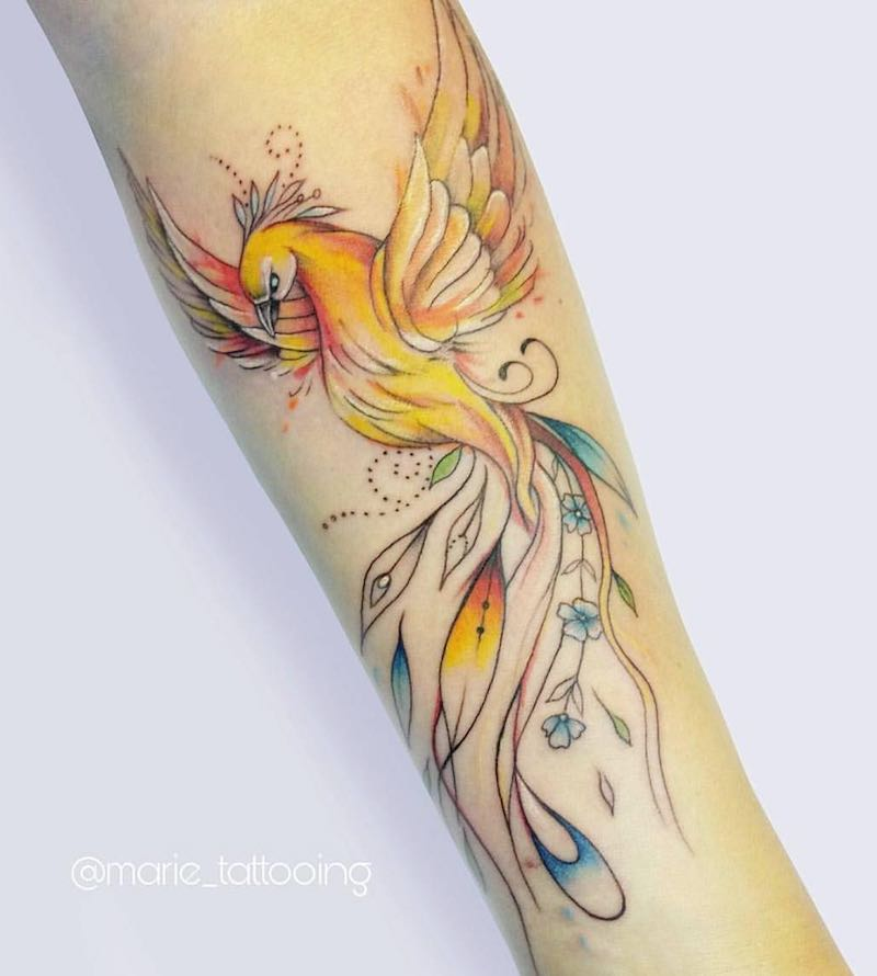 Phoenix Tattoo by Mariesu