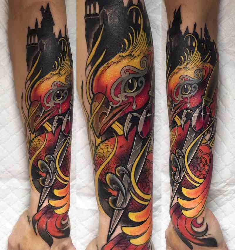 Phoenix Tattoo by Miryam Lumpini