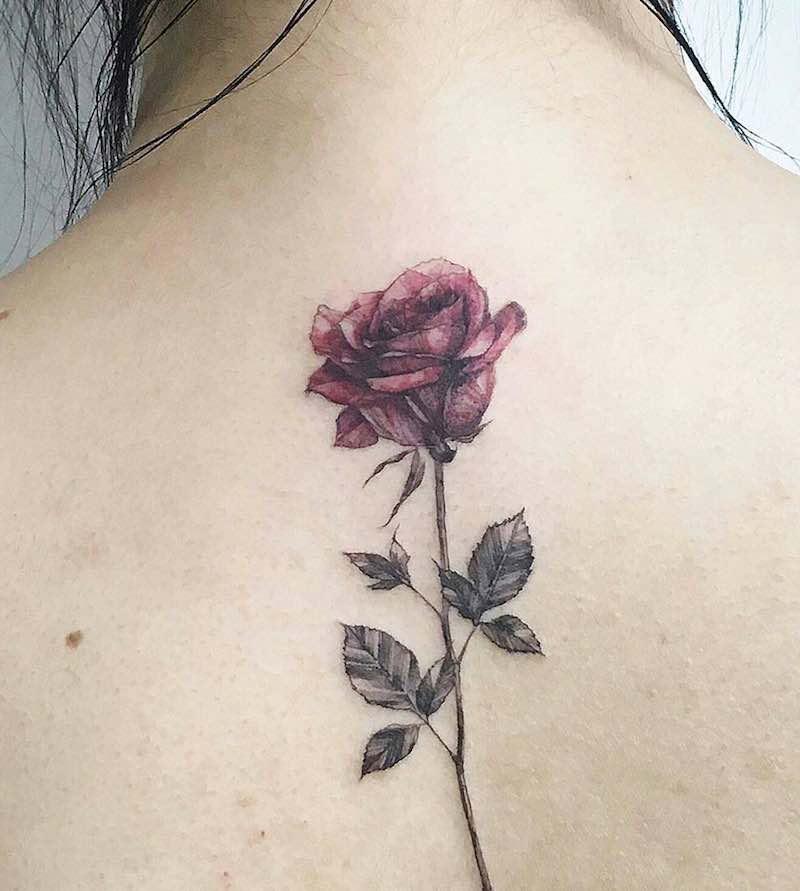 Rose Back Tattoos for Women by Tattooist Flower