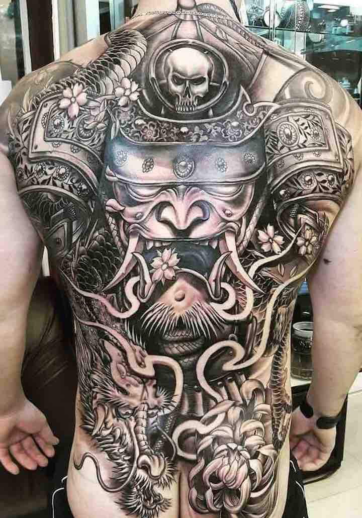 Samurai Japanese Tattoo by Jacke Wong