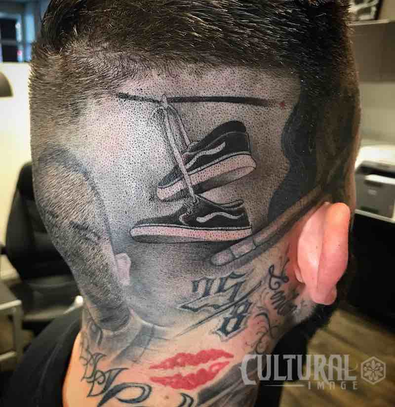 Shoes Head Tattoo by NENE