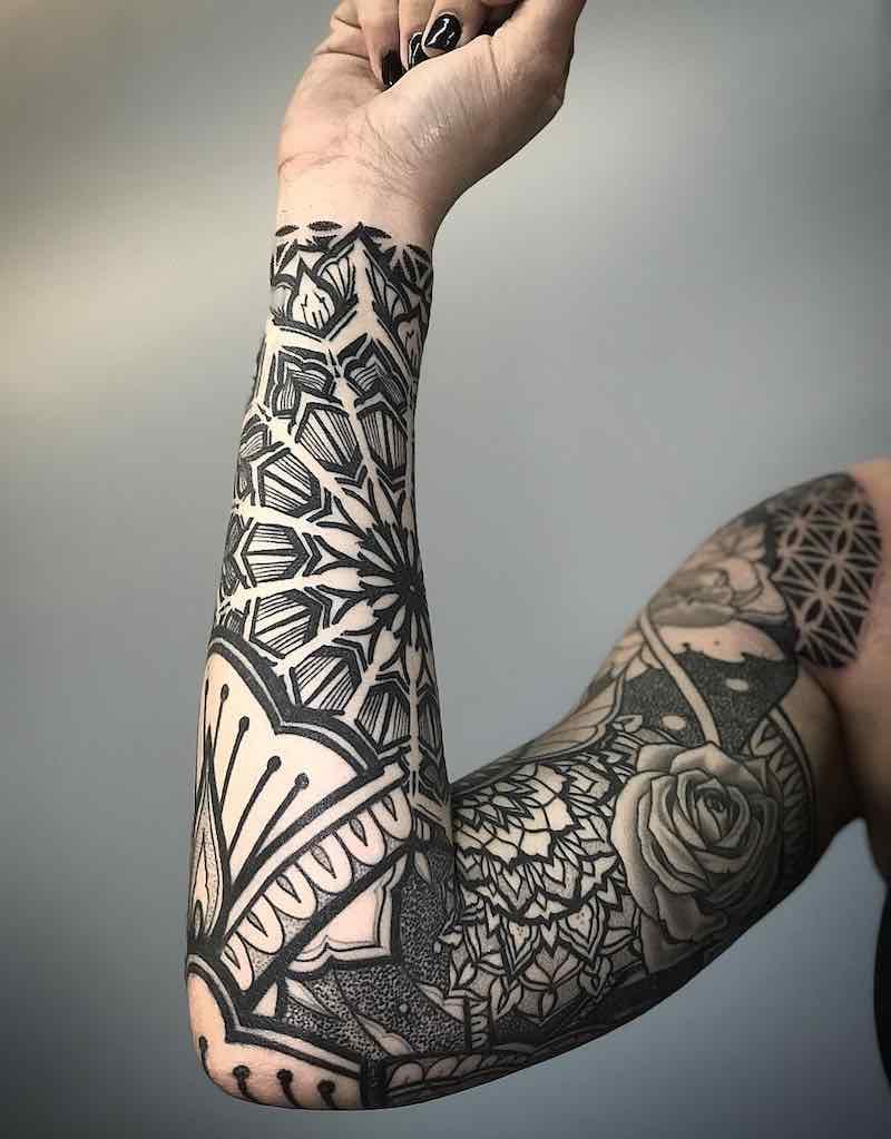 Sleeve Tattoo by Simonh Tattoo