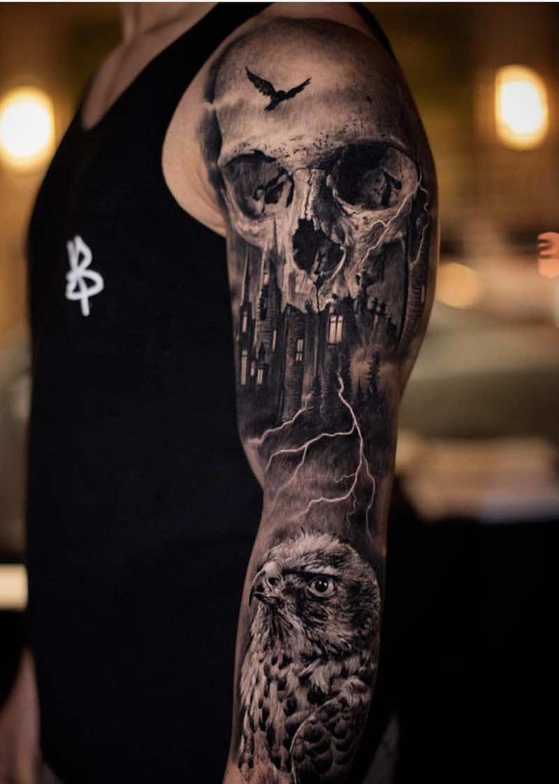Sleeve Tattoo by Yomicoart
