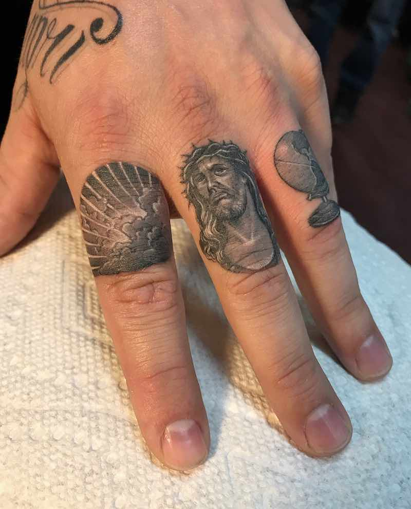 Small Detailed Finger Tattoos by Ben Grillo