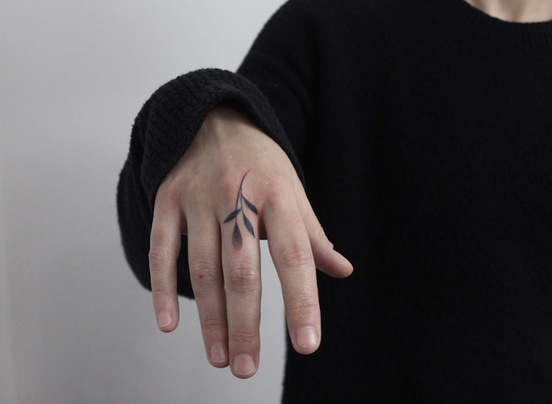 Small Finger Tattoo by Lara Maju