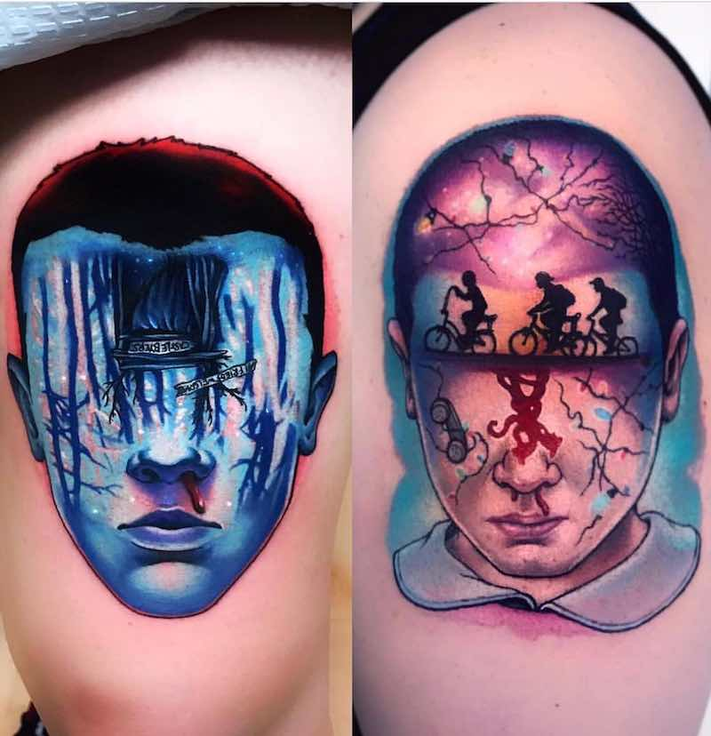 Stranger Things Tattoos by Jeremy Sloo