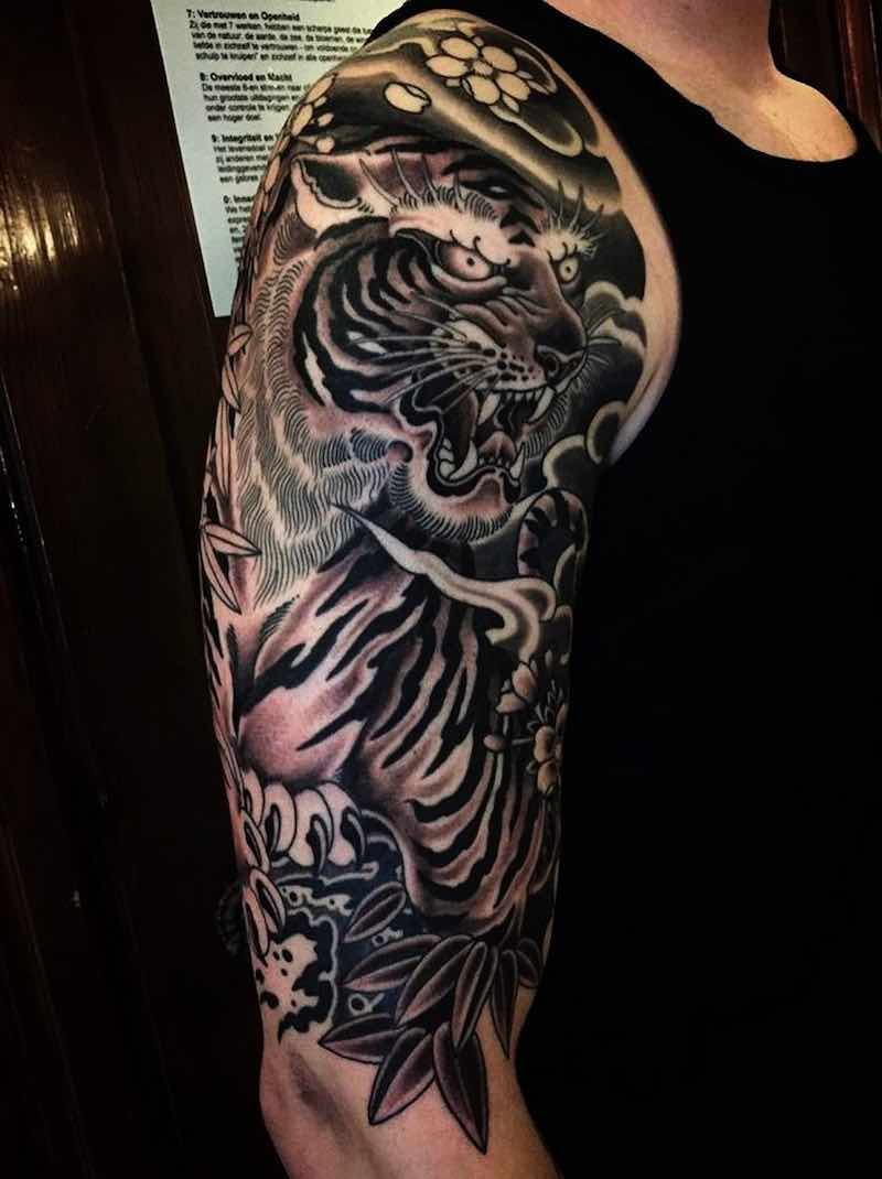 Tiger Half Sleeve Tattoo by Rory Pickersgill