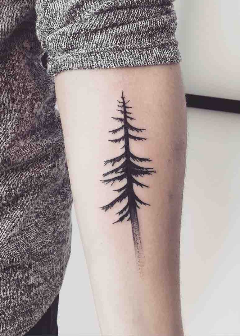 Tree Simple Tattoo by Vanessa