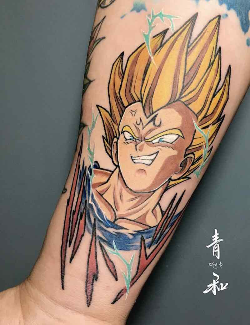 Vegeta Tattoo by Giant Lee