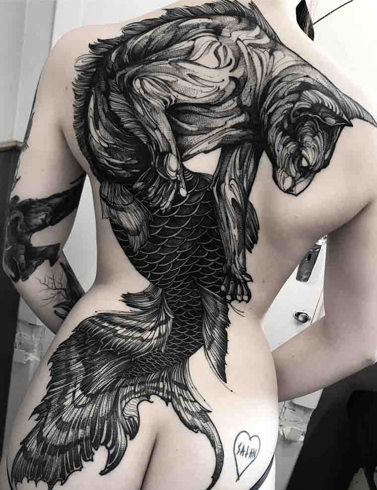 Womens Back Tattoos by Fredao Oliveira