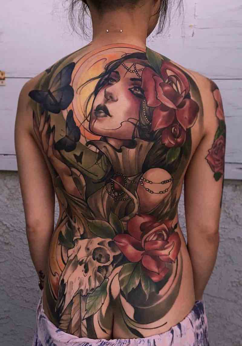 Womens Back Tattoos by Matt Tischler