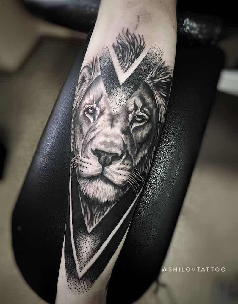 Lion Tattoo by Aleksey Shilov