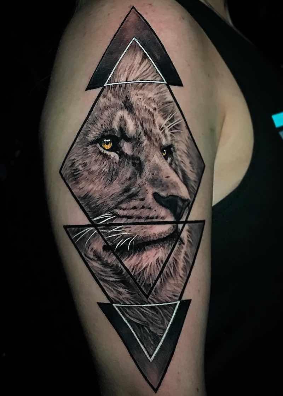 Lion Tattoo by Brandon Albus