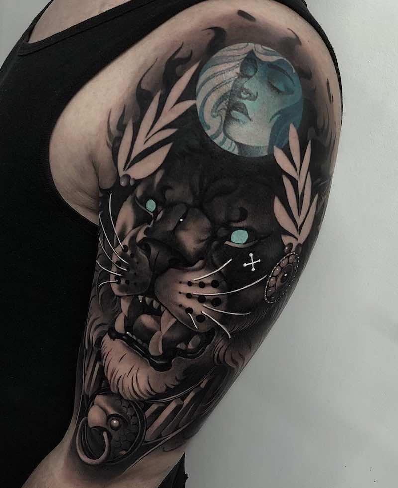 Lion Tattoo by Cristian Casas