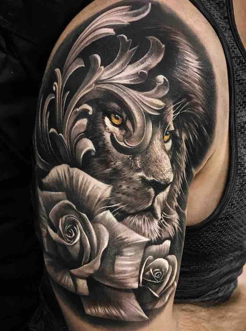 Lion Tattoo by Harrison Daniel