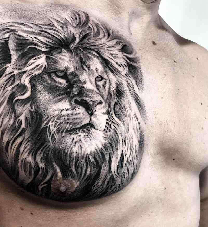 Lion Tattoo by Lilb Tattoo