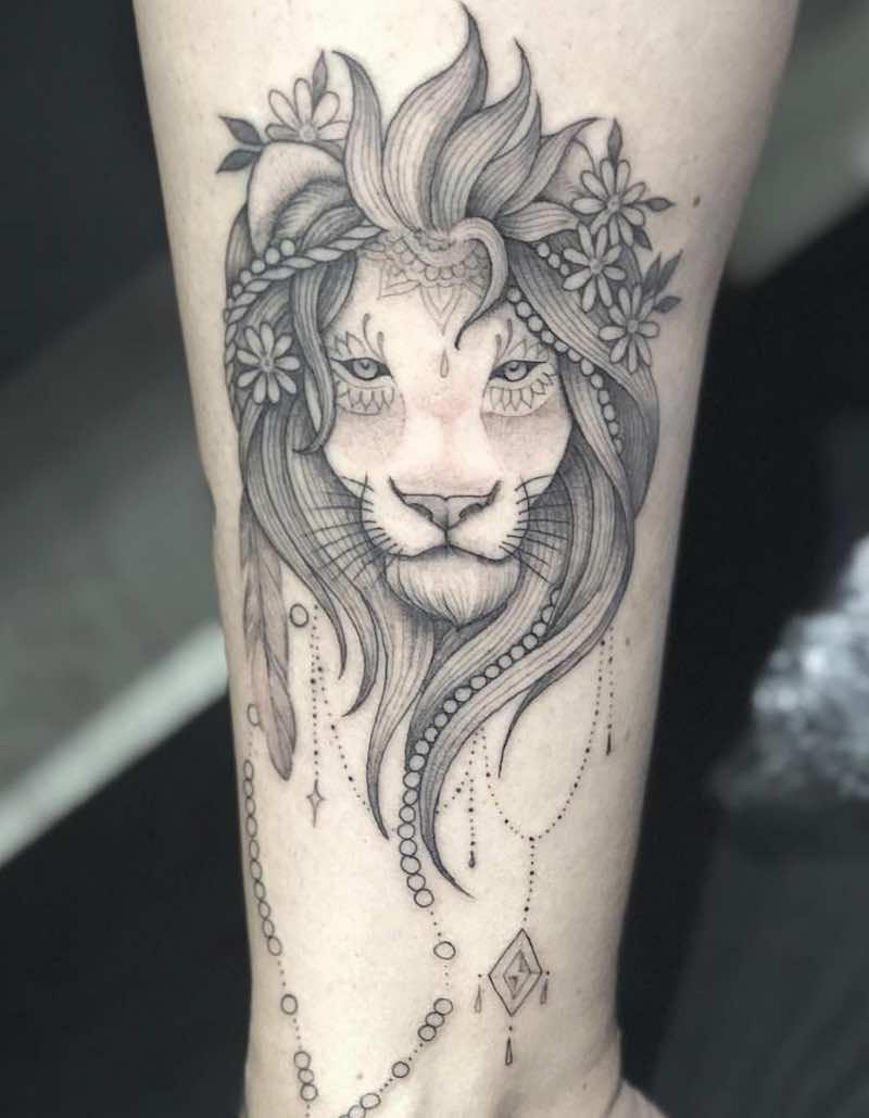 Lion Tattoo by Lucas F Santuario