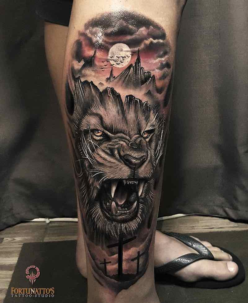 Lion Tattoo by Mauricio Fortunato
