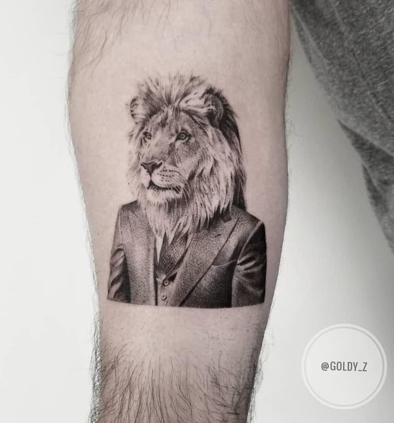 Lion Tattoo by Zlata Kolomoyskaya